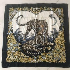 Authentic Hermès jungle love ,100% silk scarf
